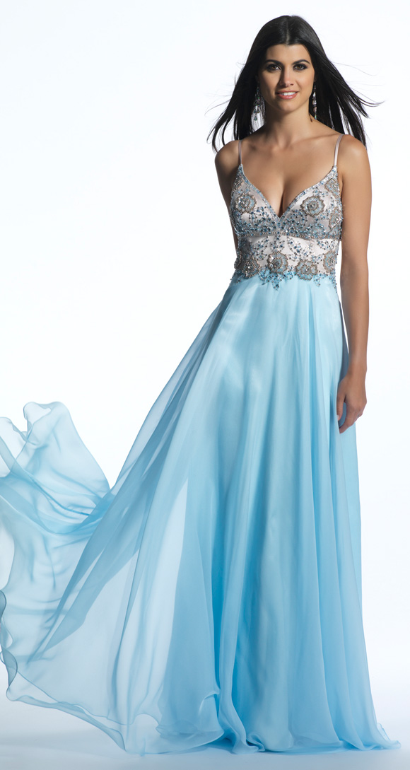 Dave and Johnny Blue Prom Dress